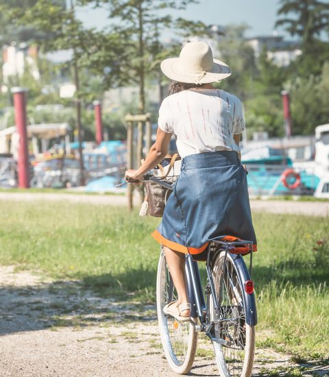 Focus produit jupé cityrideuz protection soleil vélo femme