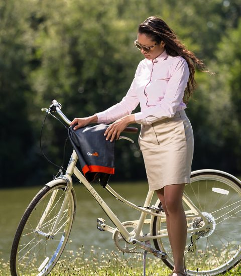 Focus produit jupe cityrideuz protection vélo femme