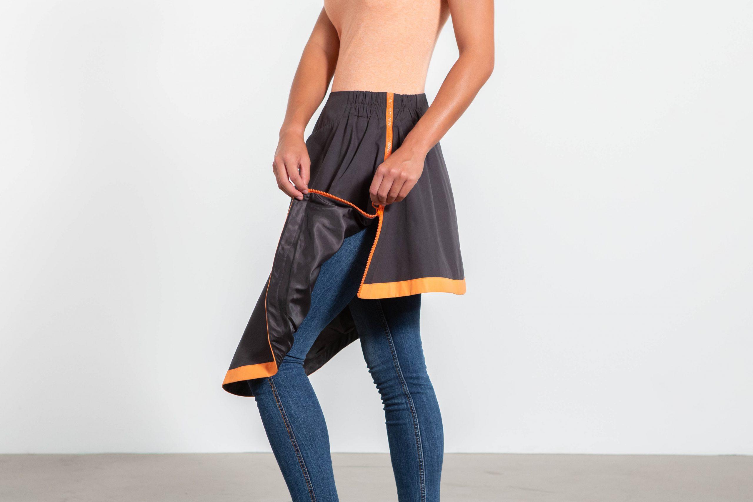 Sur-jupe clara noire cityrideuz pochette intérieure