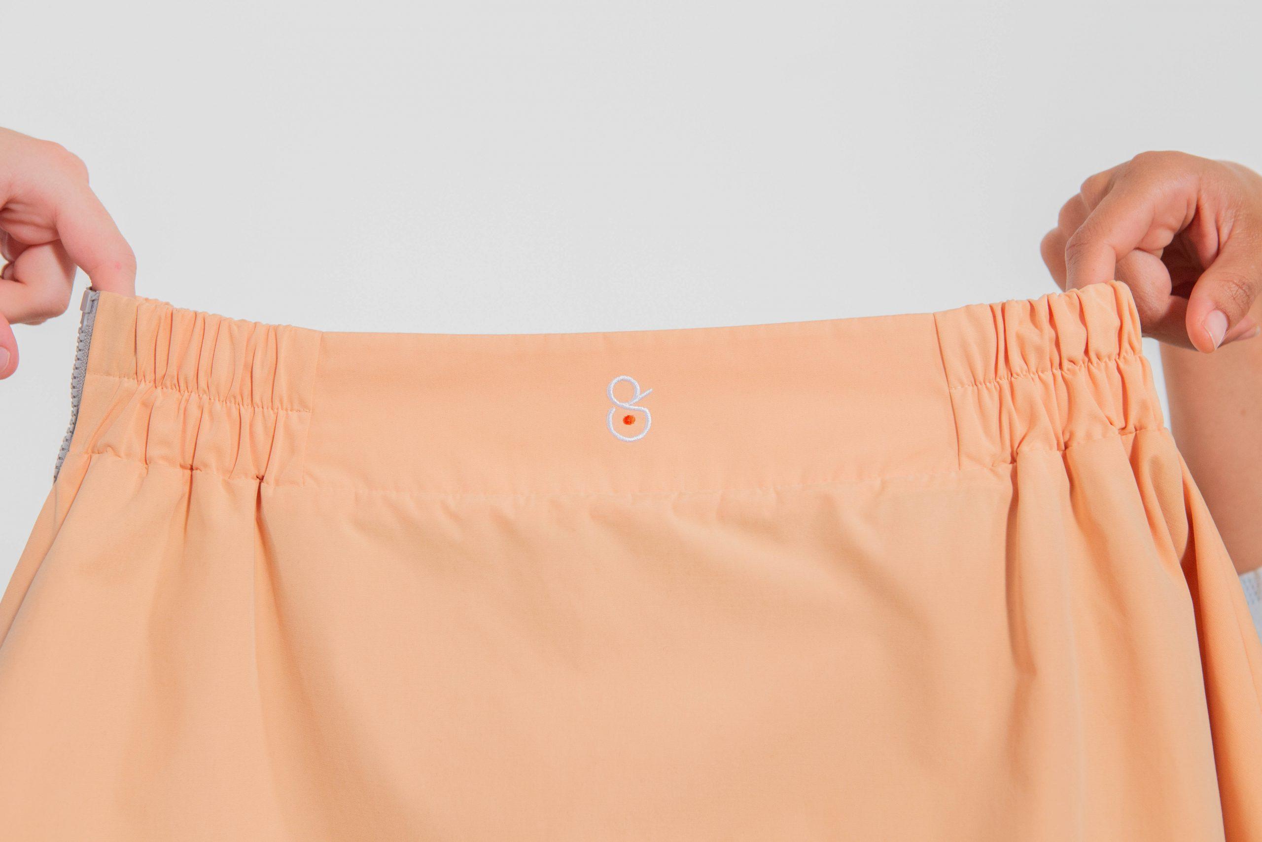 Sur-jupe clara abricot cityrideuz