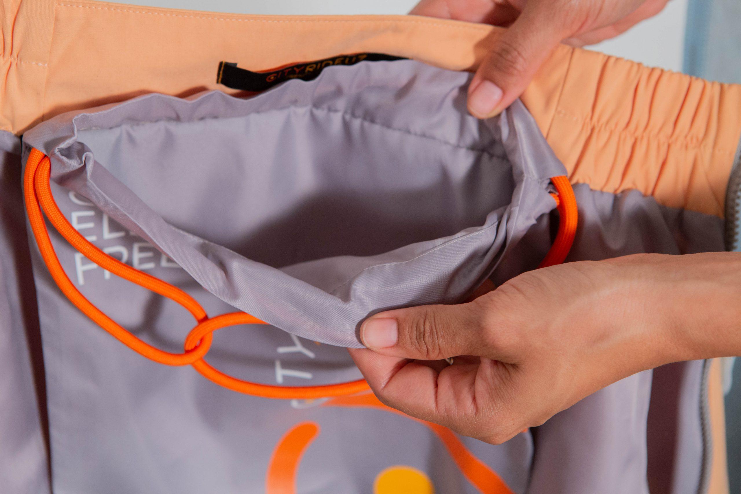 Sur-jupe clara abricot cityrideuz pochette intérieure
